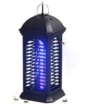 COKIT Bug Zapper Electronic Mosquito Killer Lamp, Portable Insect Killer Trap with Hook - Non-Toxic & No Radiation, Standing or Hanging Design Perfect for Home/Office/Indoor Use (M)
