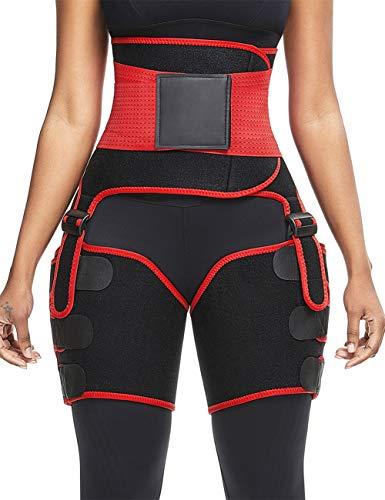 DANALA Women Waist Trainer Sauna Belt 2-in-1 Waist and Thigh Trimmer for Weight Loss Women's Neoprene Slimming Workout Waist Cincher M