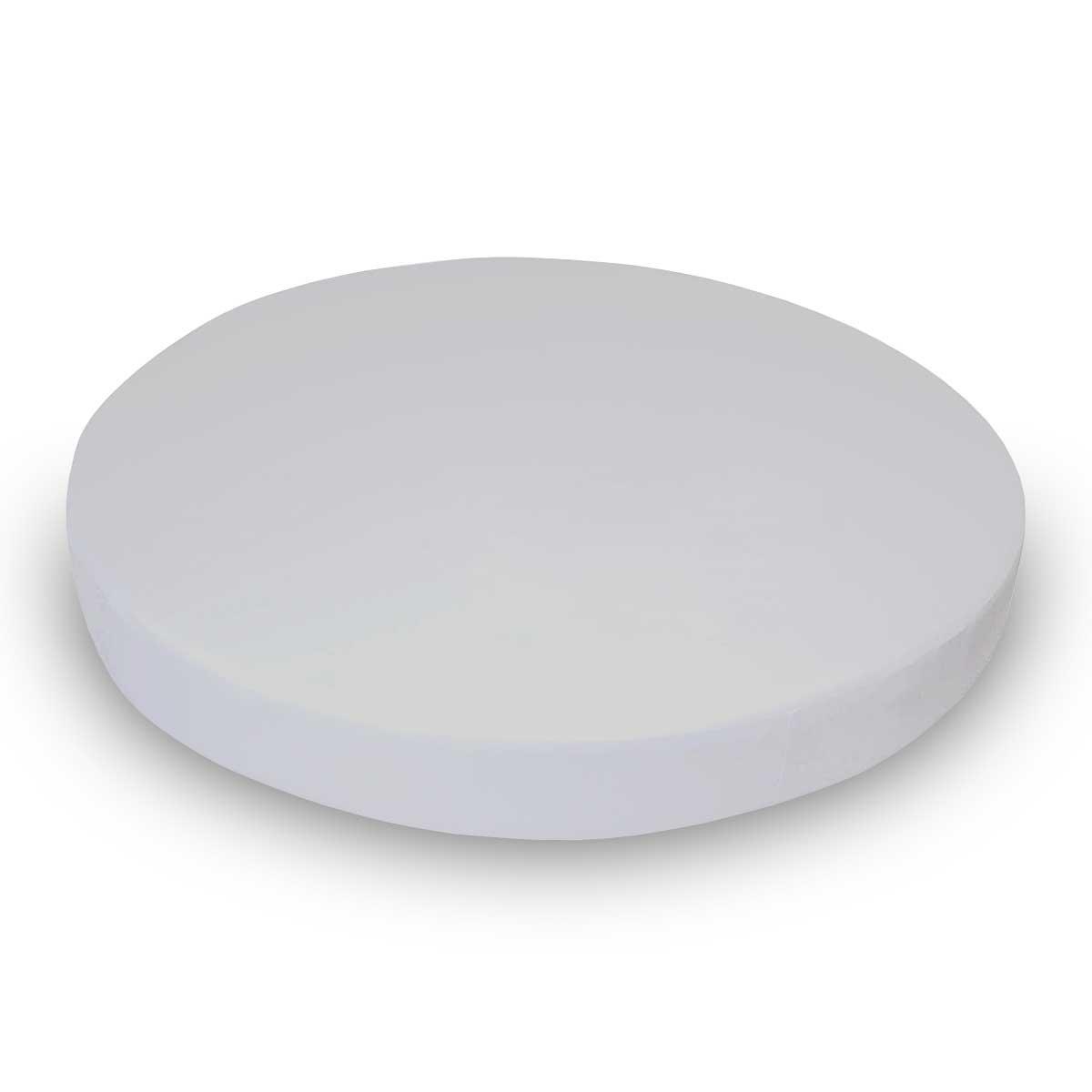 SheetWorld 100% Cotton Jersey Round Crib Sheet, Silver Grey, 42 x 42, Made In USA