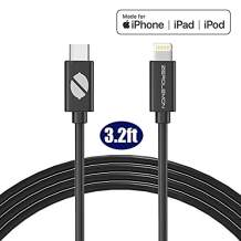Mfi Certified Lightning to USB C Cable, ZeroLemon SuperFast Charging Cable Support Fast Charge Power Delivery Compatible with iPhone 11/11 Pro/11 Pro Max, New iPad MacBook(3.2Feet)