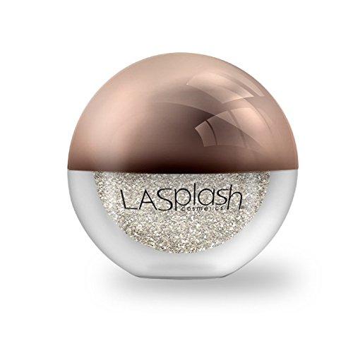 LA Splash Cosmetics Metallic Champagne Loose Glitter Eyeshadow Powder for Carnival/Masquerade/Party/Holiday - Crystallized Glitter (Platinum Fizz)