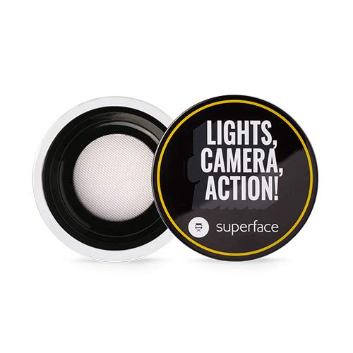 Superface Real Magic Filter Setting Powder, Loose Powder for Finishing and Setting Makeup (01 Invisible White)