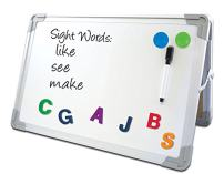 Flipside Products 50001 Magnetic Dry Erase Desktop Easel Set, Includes Pen, 2 Magnets, White