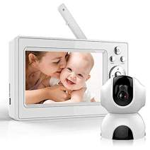Bable Baby Monitor with 720P Camera, HD Video Baby Monitor with Infrared Night Vision Camera, Remote Control, Temperature Monitor, Two-Way Talk, Up to 900 feet