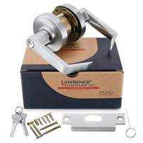 Lawrence Commercial Entrance Lock Door Handle - Grade 1 Chrome Finished Keyed Entry Door Lever with Cylindrical Lockset - Extra Heavy Duty Hardware, Easy Installation - Ergonomic Lever for Office