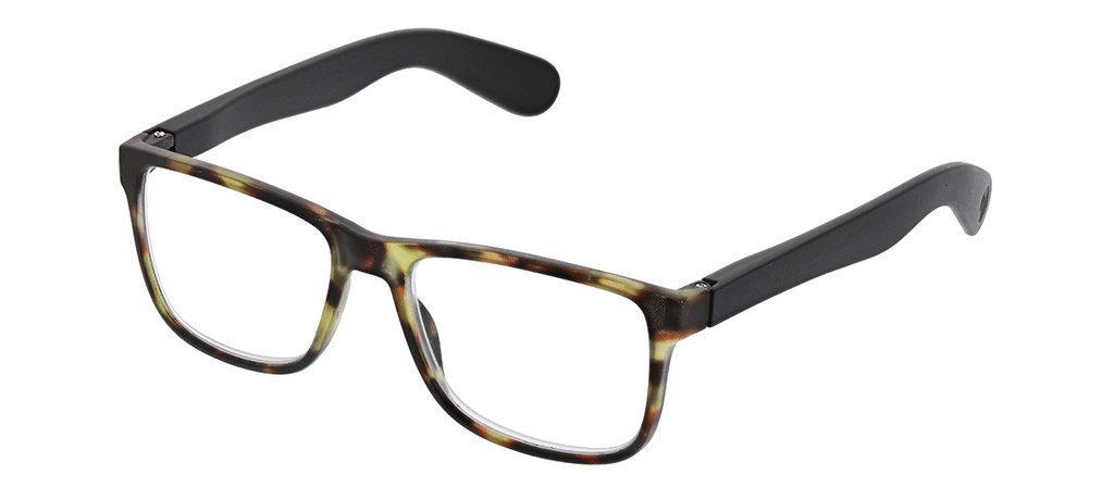 Peepers by PeeperSpecs unisex-adult Hutch Focus Square Blue Light Filtering Reading Glasses