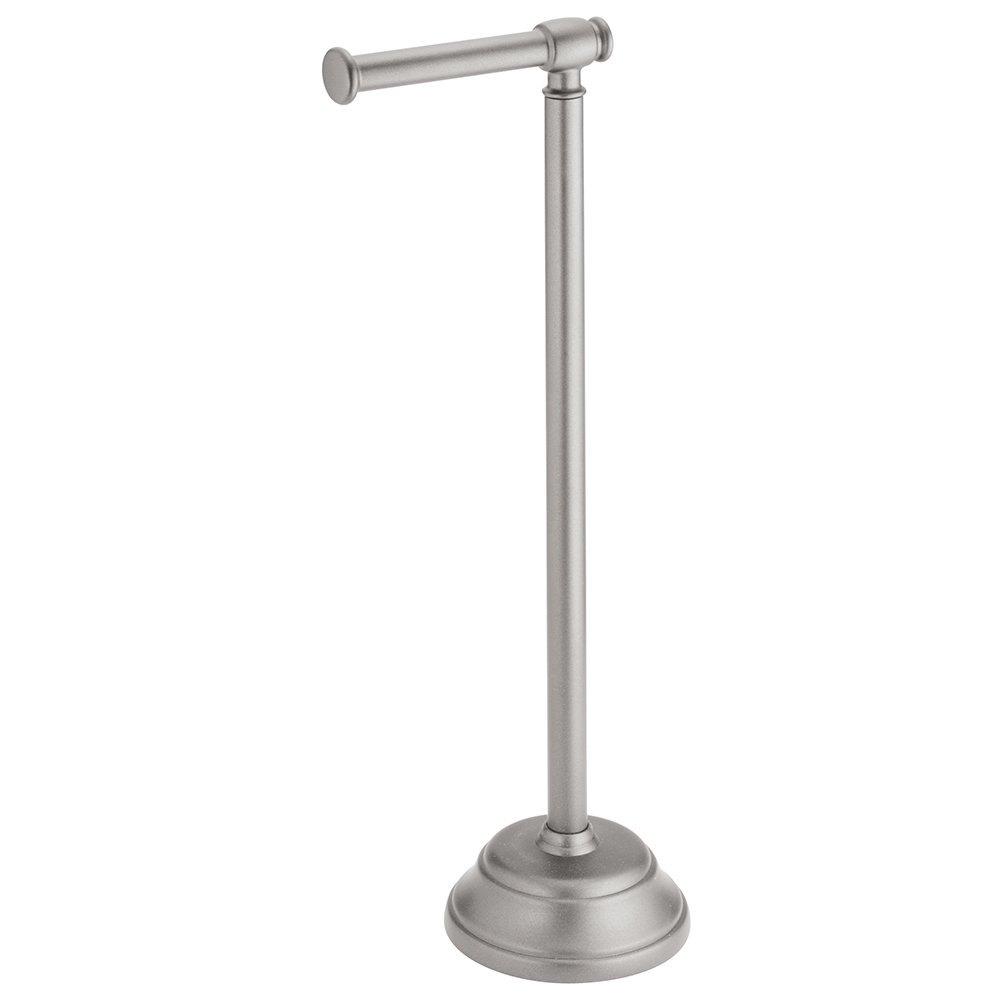 Interdesign Kent Free Standing Toilet Paper Holder Dispenser And Spare Roll Storage For Bathroom Silver