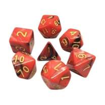 Opaque 7 Piece Polyhedral DND Dice Set by D20 Collective Dice for Table Top Dungeons and Dragons RPGs and Gaming