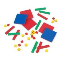 EAI Education QuietShape Foam Algebra Tiles - Standard Set of 35