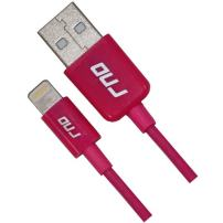 RND Apple Certified Lightning to USB 1.5FT Cable for iPhone (Xs, XS Max, XR, X, 8, 8 Plus, 7, 7 Plus, 6, 6 Plus, 6S, 6S Plus) iPad (Pro, Air, Mini) and iPod (1.5 feet/.5 Meter/Pink)