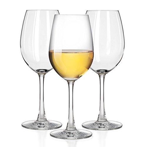 Outdoor White wine glasses, Smooth Rims - 100% Tritan Plastic -Dishwasher-safe, shatterproof wineglasses - by TaZa -Set of 4 (12 oz)