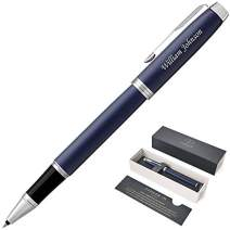 Dayspring Pens   Personalized PARKER IM Matte Blue Rollerball Gift Pen with Case. Custom Engraved Fast!