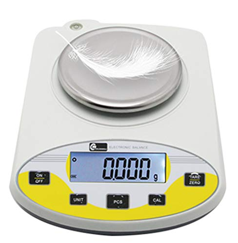 CGOLDENWALL High Precision Lab Digital Precision Analytical Balance Lab Scale 1mg Precision Electronic Balance Jewelry Scales Kitchen Precision Weighing Electronic Scale Calibrated (200g, 0.001g)