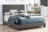 Crown Mark Erin Upholstered Bed, King, Grey