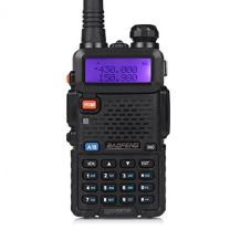Baofeng UV-5RTP Tri-Power 8/4/1W Two-Way Radio Transceiver (UV-5R Upgraded Version with Tri-Power), Dual Band 136-174/400-520MHz True 8W High Power Two-Way Radio + 1 Programming Cable