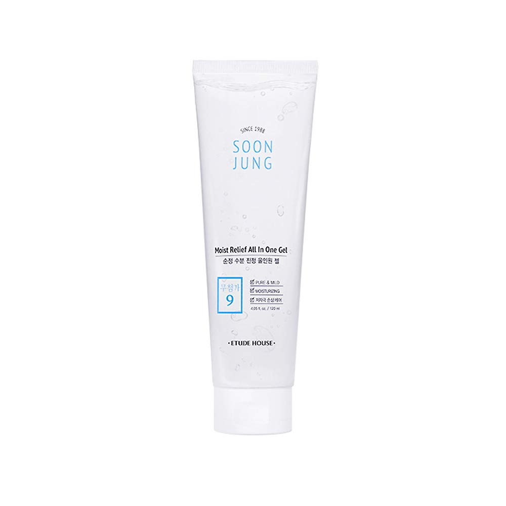 ETUDE HOUSE SoonJung Moist Relief All In One Gel 120ml   Moisturizing Soothing Multi-Gel   Toner, emulsion and essence all in one