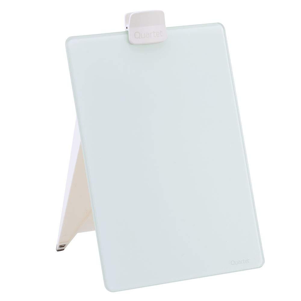 "Quartet Glass Whiteboard Desktop Easel, 9"" x 11"", Dry Erase Surface, White (GDE119)"