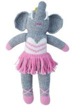 Blabla Josephine the Elephant Mini Plush Doll - Knit Stuffed Animal For Kids. Cute, Cuddly & Soft Cotton Toy. Perfect Baby Shower Gift, Forever Cherished. Eco-Friendly. Certified Safe & Non-Toxic.