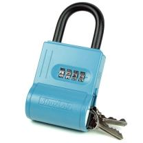 ShurLok SL-100W 4-Dial Numbered Key Storage Combination Lock Box, Blue