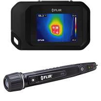 FLIR C3 Pocket Thermal Camera with WiFi and FLIR VP50 Non-Contact Voltage Detector Plus Flashlight