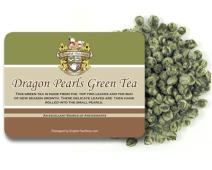 English Tea Store Loose Leaf, Dragon Pearls Green Tea Pouches, 4 Ounce
