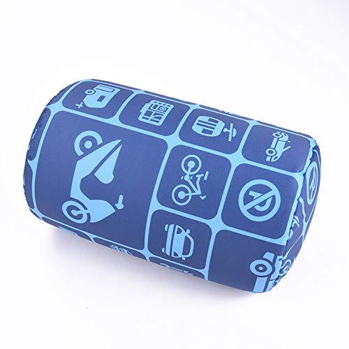 """Bookishbunny Home Office Chair Car Seat Cushion Micro Bead Roll Pillow 7"""" x 12"""" Head Neck Back Body Comfort (Vehicle)"""