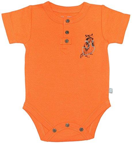 Finn + Emma Organic Cotton Short Sleeve Bodysuit Onesie for Baby Boy/Girl