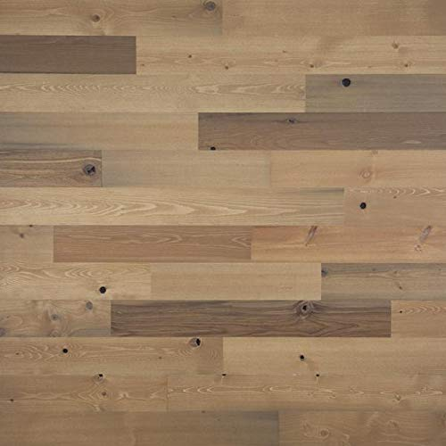 """Timberchic River Reclaimed Wooden Wall Planks - Simple Peel and Stick Application. (4"""" Wide - 40 Sq. Ft, Sandy Beach)"""