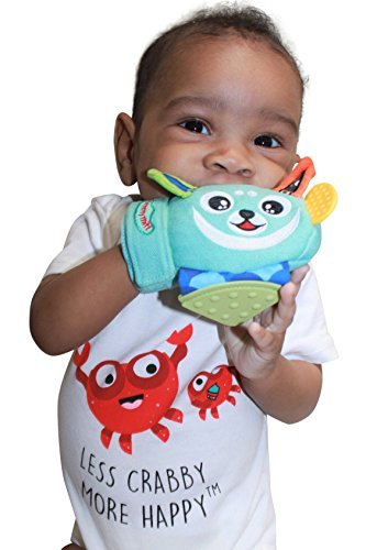 Yummy Mitt Teething Mitten- -Natural Self-Soothing Handy Teething Remedy- 3-8 Months- 100% Cotton (NOT Polyester) and Side Teether Tabs (Yummy Buddy)