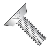 """18-8 Stainless Steel Thread Cutting Screw, Plain Finish, 82 Degree Flat Undercut Head, Phillips Drive, Type 23, #8-32 Thread Size, 1"""" Length (Pack of 25)"""