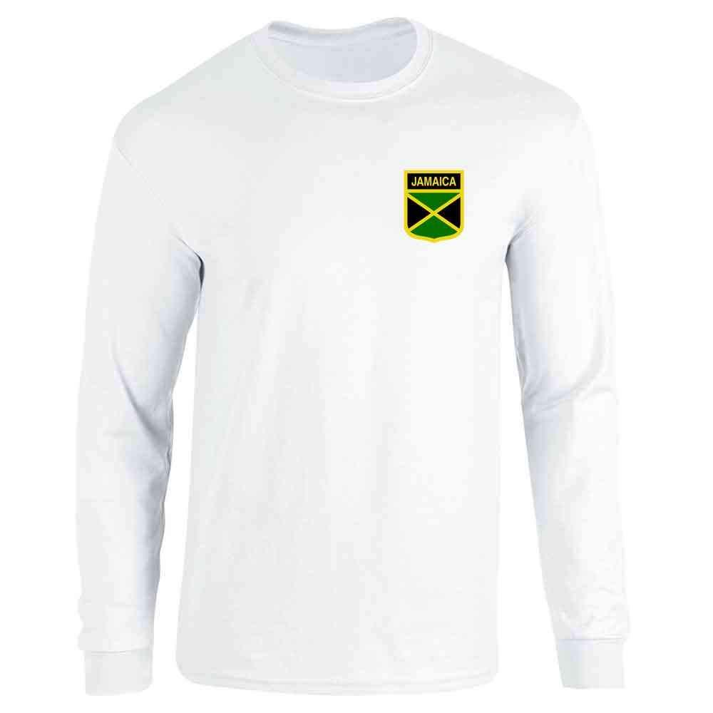 Jamaica Soccer Retro National Team Costume Full Long Sleeve Tee T-Shirt