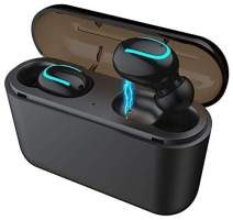 Wireless Ear-Buds, Bluetooth 5.0, Easier Pairing, Longer Distance, Best Sound Quality, Sweat-Proof Design, 20 Hours Play time, Storage case for Charging.