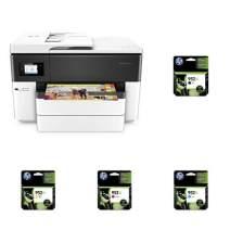 HP OfficeJet Pro 7740 Wireless All-in-One Printer + XL High Yield Ink Cartridges