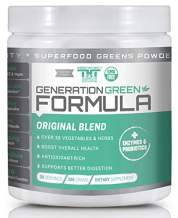 Generation Greens Powder | Organic Superfood Powder with Spirulina, Chlorella, Wheat Grass | 60 Powerful Super Foods, Probiotics, Enzymes | GMO Free (30 Serving, Original)