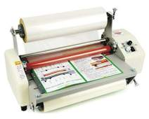 "Hanchen Thermal Laminator, Hot and Cold Four Rollers A3 Paper Document Photo Laminating Machine 13.19"" (335mm), Quick Warm-Up One Year Warranty (110V)"