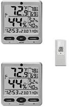 Ambient Weather WS-08-2 Dual Zone Big Digit 8-Channel Wireless Thermo-Hygrometer