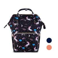 Diaper Bag - UNCLE WU Unicorn Bag for Mom Dad, Maternity Nappy Bags, Large Capacity Unicorn Baby Diaper Bag Bookbag for Boys Girls (Navy)