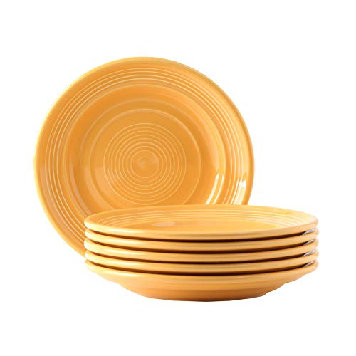 Tuxton Home THCSA074-6B Concentrix Salad Plate, 7.5-Inch, Saffron Yellow