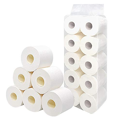 Soft White Toilet Paper, 3 Ply Comfort Care Bath Tissue, Family Mega Rolls - Highly Absorbent Fit Into Standard Hand Towel Dispensers for The Washroom/Kitchen Workshop/Restaurant (16Rolls/case)