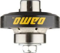 DAMO 3/16 inch Demi Bullnose Half Bullnose Roundover Coarse Diamond Hand Profiler Router Bit Profile Wheel with 5/8-11 Thread for Granite Concrete Marble Countertop Edge