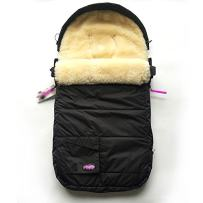 100% Australia Sheepskin Snuggle Pod Baby Footmuff for All Kinds of Pushchairs,Strollers,Joggers,0-3Years Baby Use High Performance Water Repellent Bunting Bag