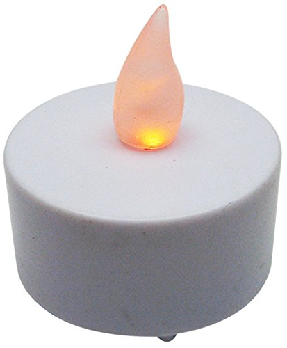 Bluedot Trading Flameless Battery Operated LED Tea Lights, Amber Color Flame, 60-Pack