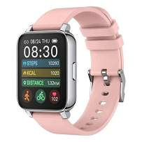 Rogbid Rowatch 2 Smart Watch for Women 1.69'' Full Touch Screen Fitness Activity Tracker Smart Watch IP68 Waterproof smartwatch Heart Rate Blood Oxygen Monitor Sleep Monitor for Android iOS (Pink)