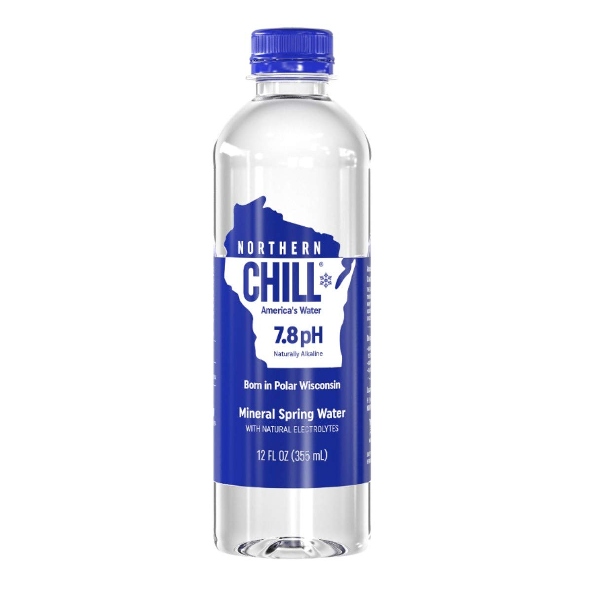 Northern Chill, 12oz, 24 pack, Naturally Alkaline Mineral Spring Water, Naturally Filtered Minerals & Electrolytes, BPA Free PET Bottles, This is America's Water