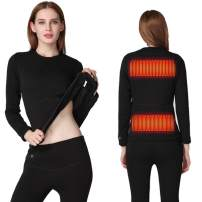 FERNIDA Heated Underwear Electric Insulated Thermal Heating T Shirts and Pants(Battery Included)
