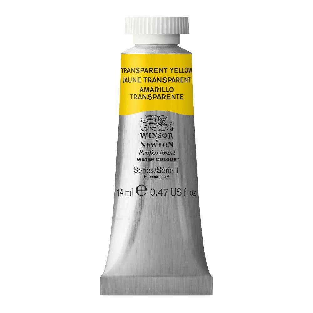 Winsor & Newton Professional Water Colour Paint, 14ml tube, Transparent Yellow