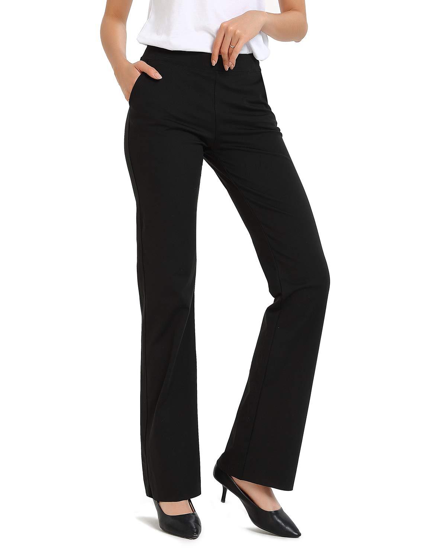 "Safort 28"" 30"" 32"" 34"" Inseam Regular Tall Dress Bootcut Yoga Pants, Workout Pants"