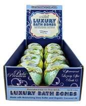 Bela Bath & Beauty, Luxury Bath Bombs, Lemongrass Green Tea Scented, Moisturizing Shea Butter and Organic Coconut Oil, Great Holiday Gift Sets, 4.5oz. Each - Pack of 8