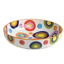Italian Dinnerware - Circle Large Shallow Bowl - Handmade in Italy from our POP Collection