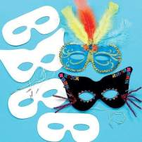 Baker Ross Decorate Your Own Mask Kit (Pack of 12) Card Masks for Kids to Decorate and Wear to Costume Parties or Dressing Up